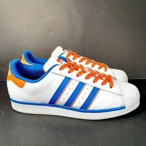 Adidas Originals SUPERSTAR RIVALRY White Blue 8
